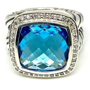David Yurman Women's Albion Ring With Hampton Blue